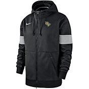 Nike Men's UCF Knights Therma Football Sideline Full-Zip Black Hoodie