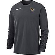 Nike Men's UCF Knights Grey Dri-FIT Modern Long Sleeve Crew Neck T-Shirt