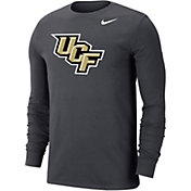 Nike Men's UCF Knights Grey Wordmark Long Sleeve T-Shirt