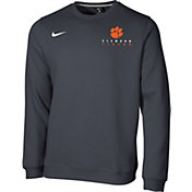 Nike Men's Clemson Tigers Grey Club Fleece Crew Neck Sweatshirt