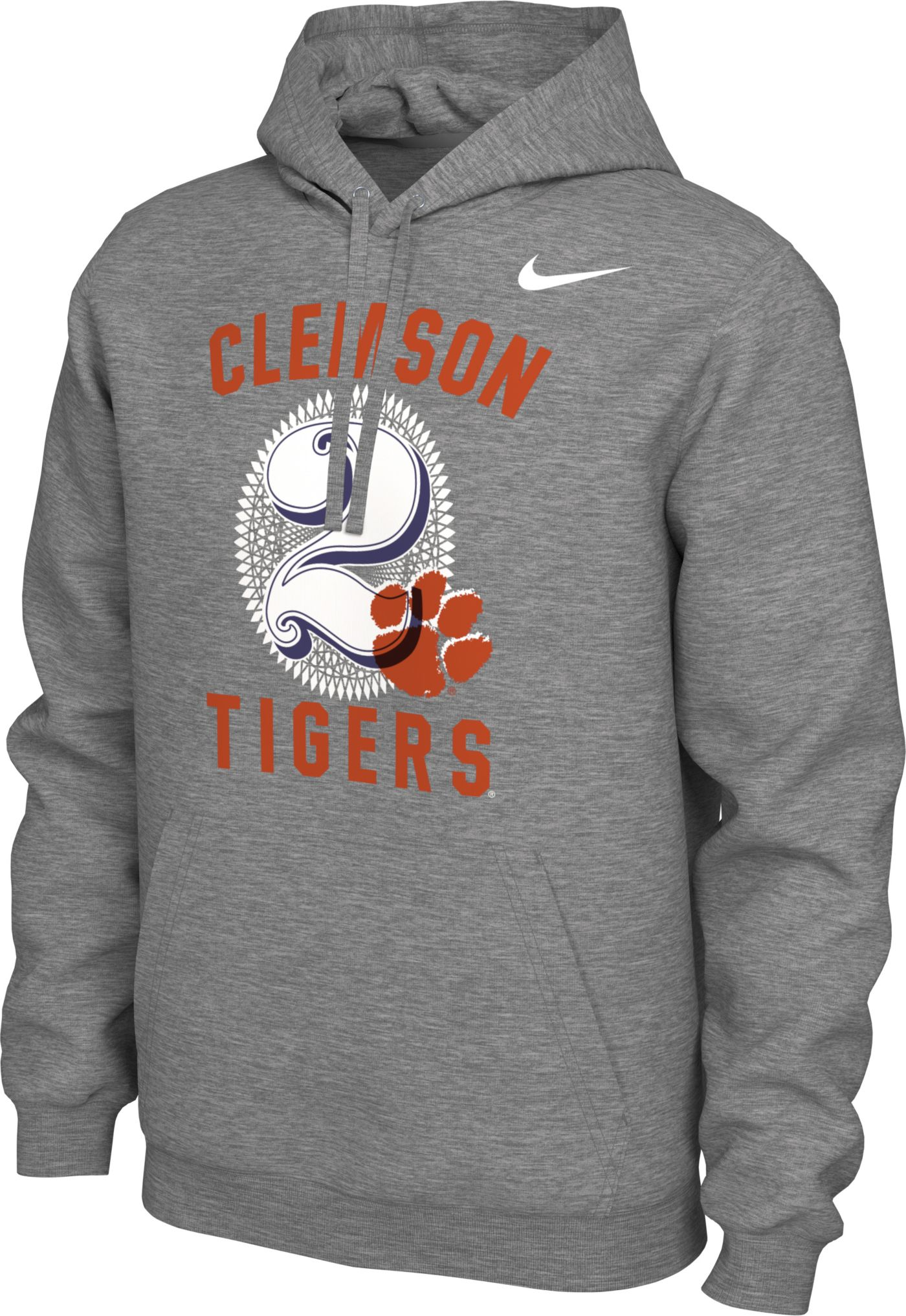 Nike Men's Clemson Tigers Grey '$2 Bill' Local Pullover Hoodie