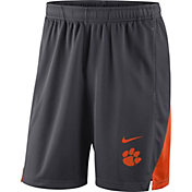 Nike Men's Clemson Tigers Grey Franchise Shorts