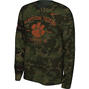Nike Men's Clemson Tigers Camo Veteran Long Sleeve T-Shirt