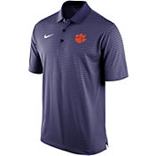 Nike Men's Clemson Tigers Regalia Stadium Striped Polo