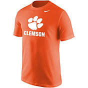 Nike Men's Clemson Tigers Orange Paw Wordmark T-Shirt