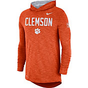 Nike Men's Clemson Tigers Orange Dri-FIT Rivalry Football Sideline Hooded T-Shirt