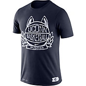 Nike Men's UConn Huskies Blue Dry Crest Basketball T-Shirt