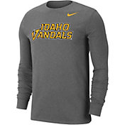 Nike Men's Idaho Vandals Grey Wordmark Long Sleeve T-Shirt