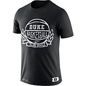 Nike Men's Duke Blue Devils Dry Crest Basketball Black T-Shirt
