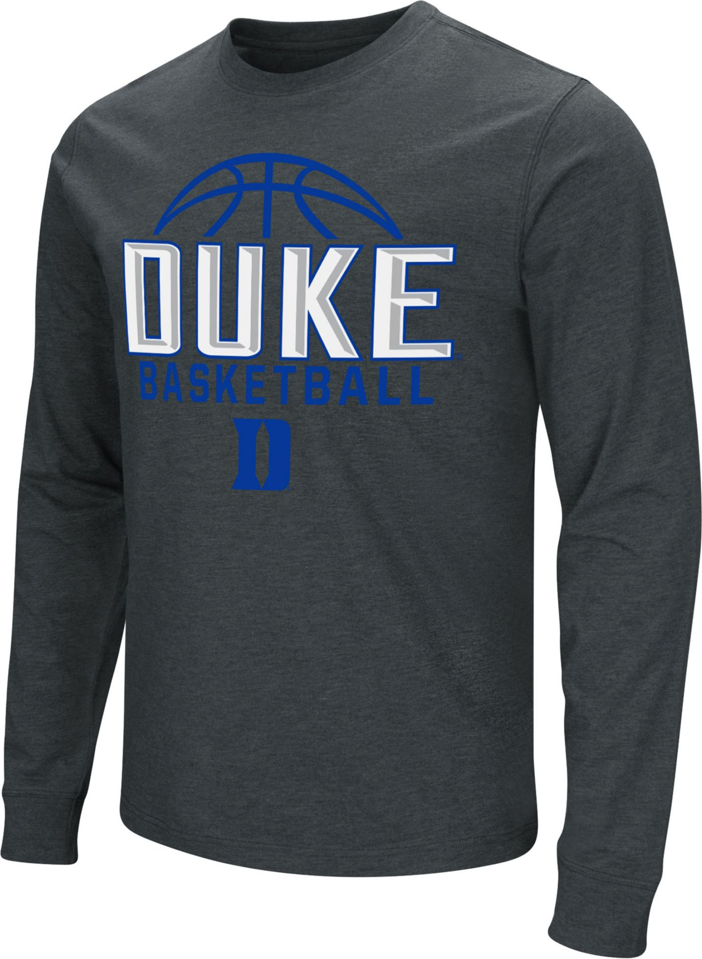 Colosseum Men's Duke Blue Devils Dual Blend Basketball Black T-Shirt