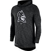 Nike Men's Duke Blue Devils Dri-FIT Slub Long Sleeve Hooded Black T-Shirt