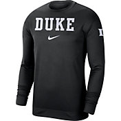 Nike Men's Duke Blue Devils Dri-FIT Spotlight Long Sleeve Basketball Black T-Shirt