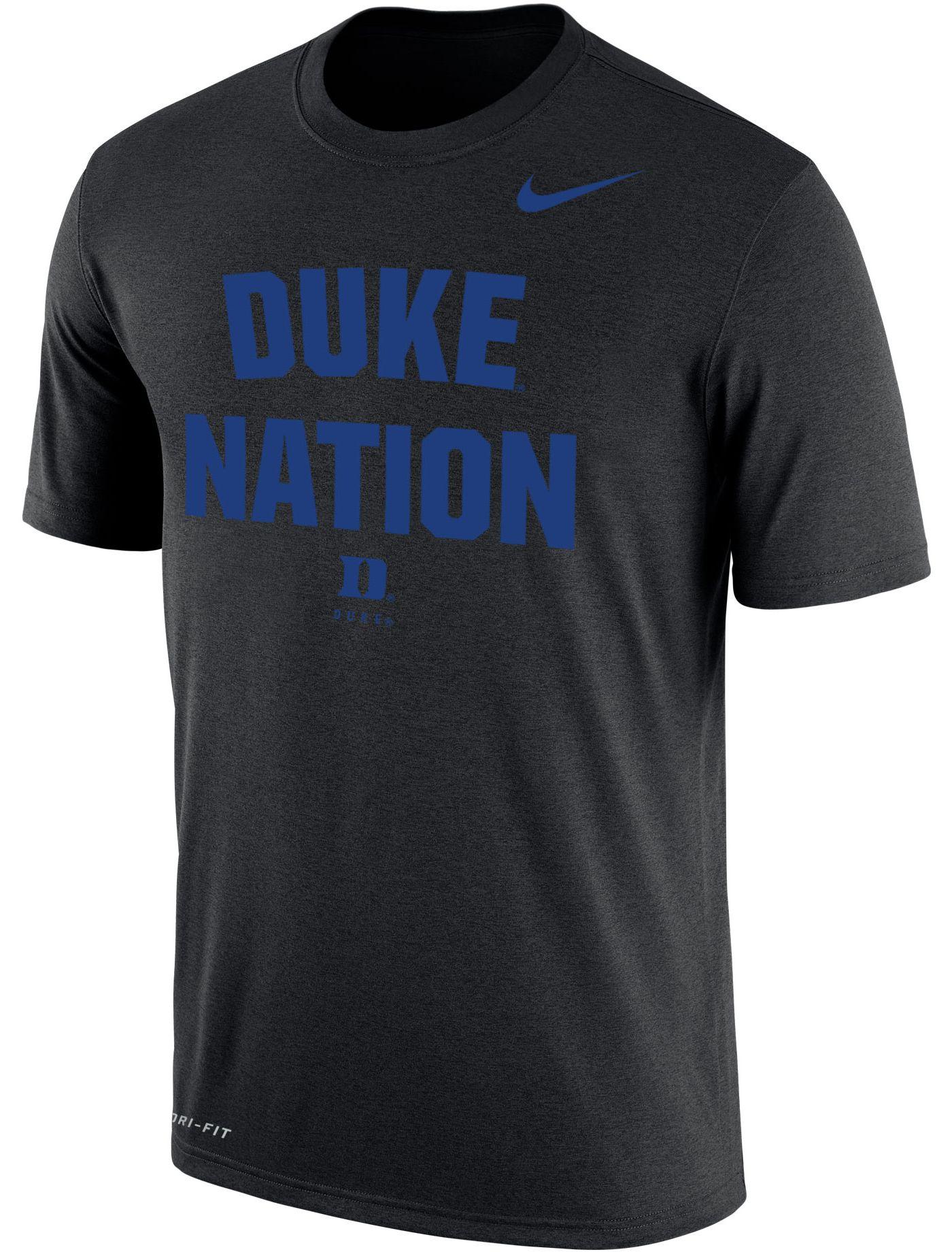 Nike Men's Duke Blue Devils Dri-FIT Phrase Black T-Shirt
