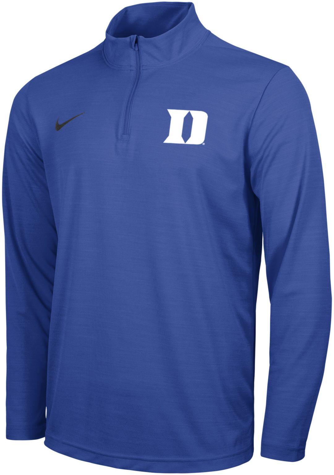 sports shoes 9b059 2aaf2 Nike Men's Duke Blue Devils Duke Blue Intensity Quarter-Zip Shirt