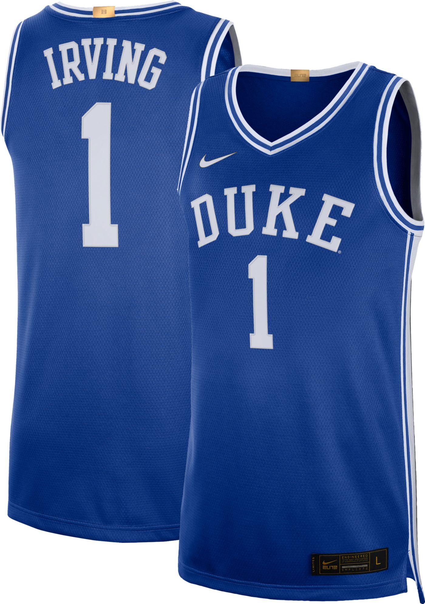 Nike Men's Kyrie Irving Duke Blue Devils #1 Duke Blue Limited Basketball Jersey