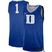 Nike Men's Duke Blue Devils #1 Duke Blue Limited 100 Year Anniversary Rivalry Basketball Jersey