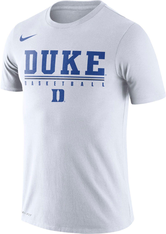 super popular f7861 4f3f5 Nike Men's Duke Blue Devils Dri-FIT Practice Basketball White T-Shirt