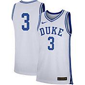 Nike Men's Duke Blue Devils #3 White Replica Basketball Jersey