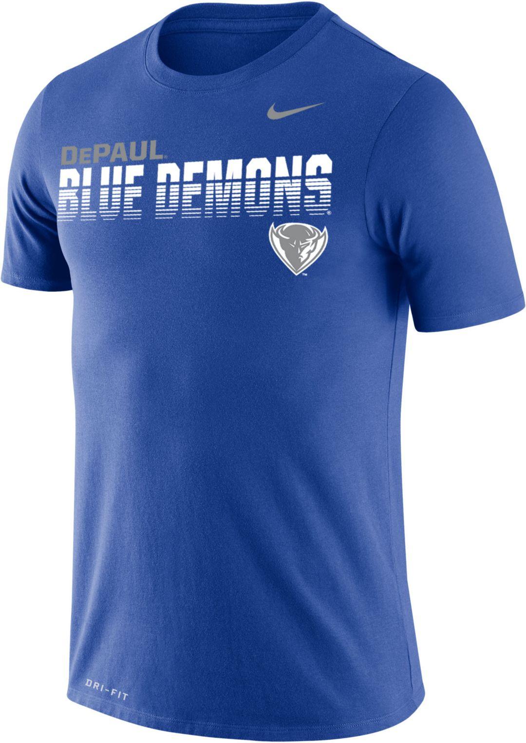 detailing 37750 aeaf2 Nike Men's DePaul Blue Demons Royal Blue Legend Football Sideline T-Shirt