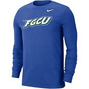 Nike Men's Florida Gulf Coast Eagles Cobalt Blue Wordmark Long Sleeve T-Shirt