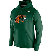 Nike Men's Florida A&M Rattlers Green Club Fleece Pullover Hoodie