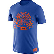 Jordan Men's Florida Gators Blue Dry Crest Basketball T-Shirt