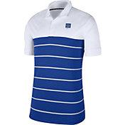 Nike Men's Florida Gators White/Blue Striped Polo