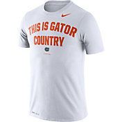 Nike Men's Florida Gators Dri-FIT 'This is Gator Country' White T-Shirt