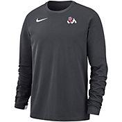 Nike Men's Fresno State Bulldogs Grey Dri-FIT Modern Long Sleeve Crew Neck T-Shirt
