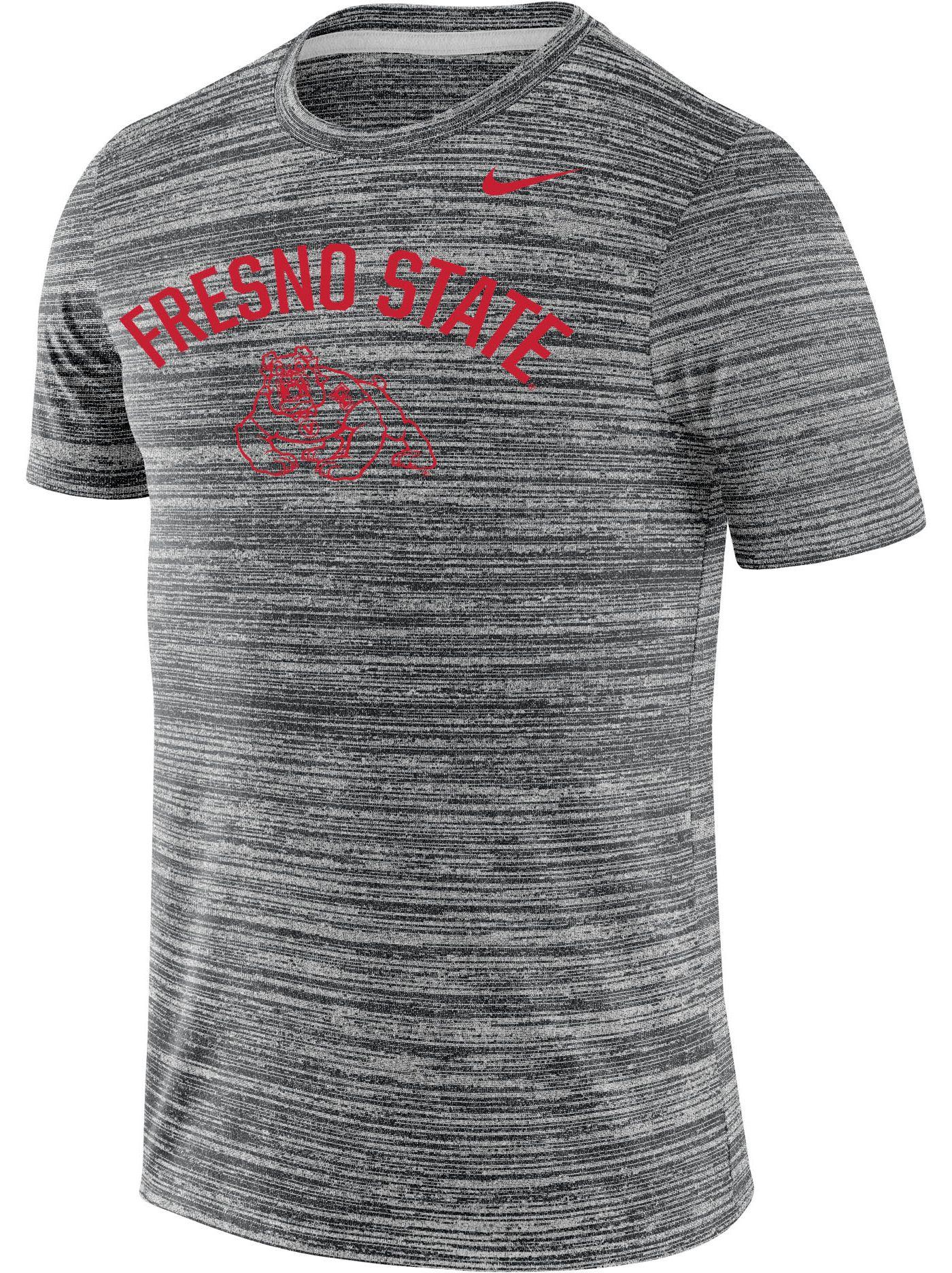 Nike Men's Fresno State Bulldogs Grey Velocity Legend T-Shirt
