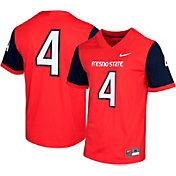 Nike Men's Fresno State Bulldogs #4 Cardinal Dri-FIT Game Football Jersey
