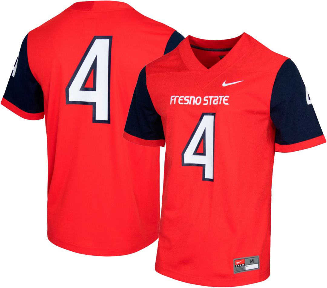 premium selection afd23 f76e4 Nike Men's Fresno State Bulldogs #4 Cardinal Dri-FIT Game Football Jersey