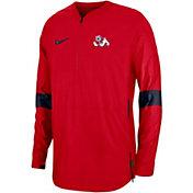 Nike Men's Fresno State Bulldogs Cardinal Lockdown Half-Zip Football Jacket