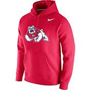 Nike Men's Fresno State Bulldogs Cardinal Club Fleece Pullover Hoodie