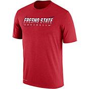 Nike Men's Fresno State Bulldogs Cardinal Football Dri-FIT Cotton Facility T-Shirt