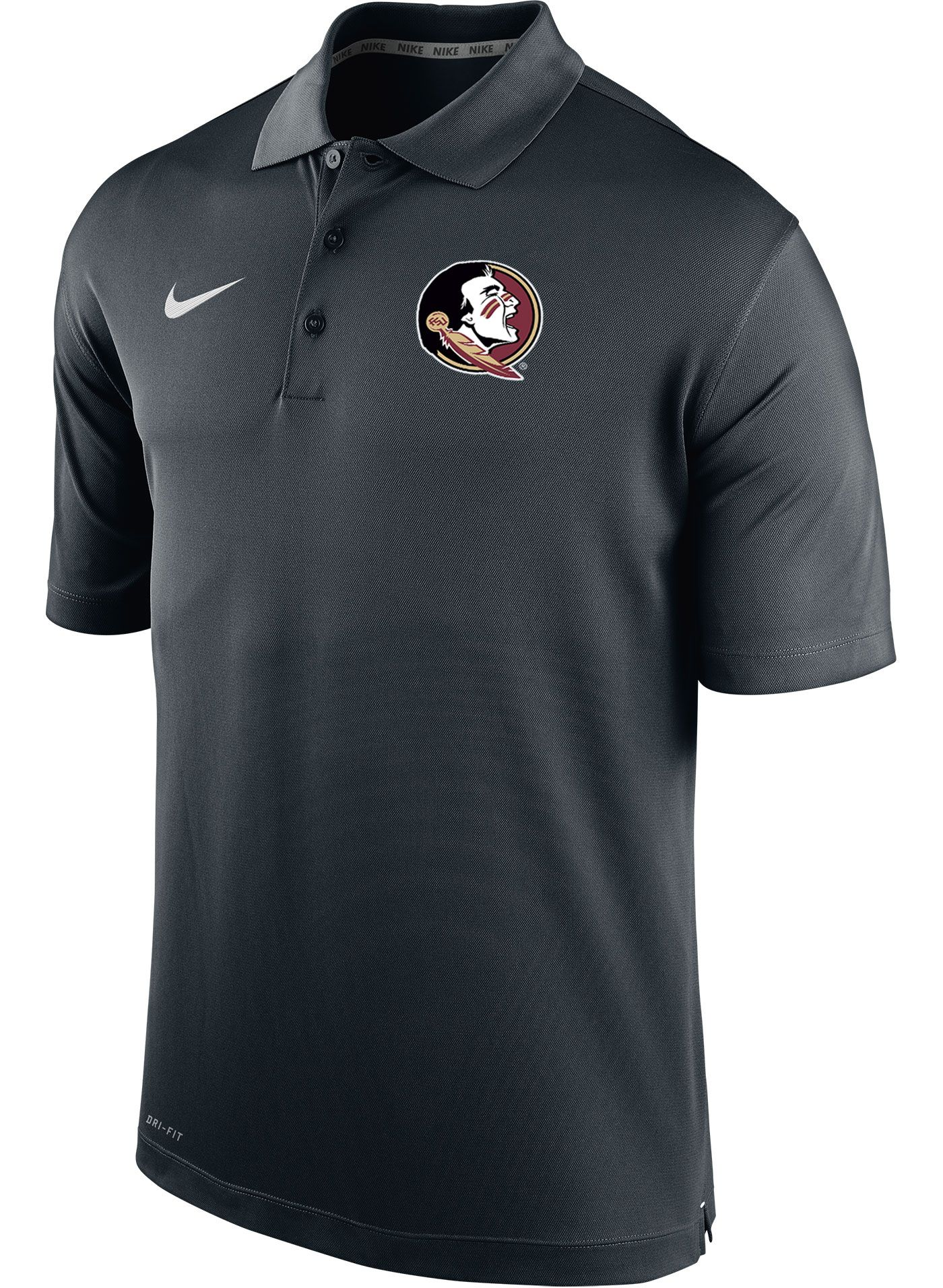 Nike Men's Florida State Seminoles Varsity Black Polo