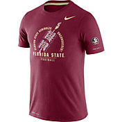 Nike Men's Florida State Seminoles Garnet Dri-FIT Rivalry Football Sideline T-Shirt