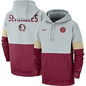 Nike Men's Florida State Seminoles Grey/Garnet Rivalry Therma Football Sideline Pullover Hoodie