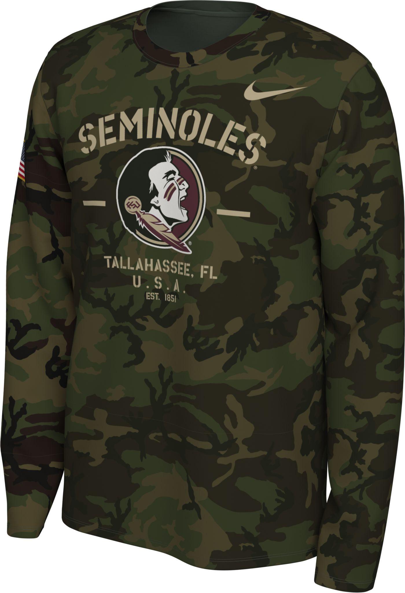 Nike Men's Florida State Seminoles Camo Veteran Long Sleeve T-Shirt