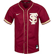 Nike Men's Florida State Seminoles Garnet Full Button Replica Baseball Jersey