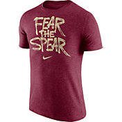 Nike Men's Florida State Seminoles Garnet 'Fear the Spear' Tri-Blend Verbiage T-Shirt