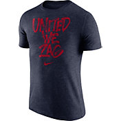 Nike Men's Gonzaga Bulldogs Blue 'United We Zag' Tri-Blend Verbiage T-Shirt