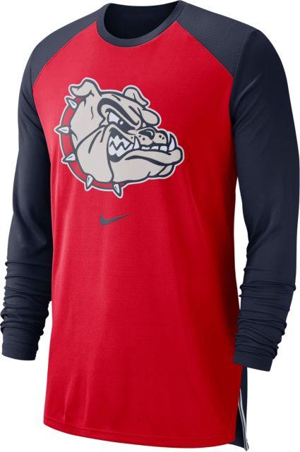 bc9db836 Nike Men's Gonzaga Bulldogs Red/Blue Long Sleeve Shooting Shirt ...