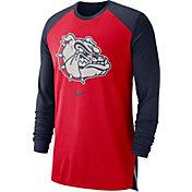 Nike Men's Gonzaga Bulldogs Red/Blue Long Sleeve Shooting Shirt