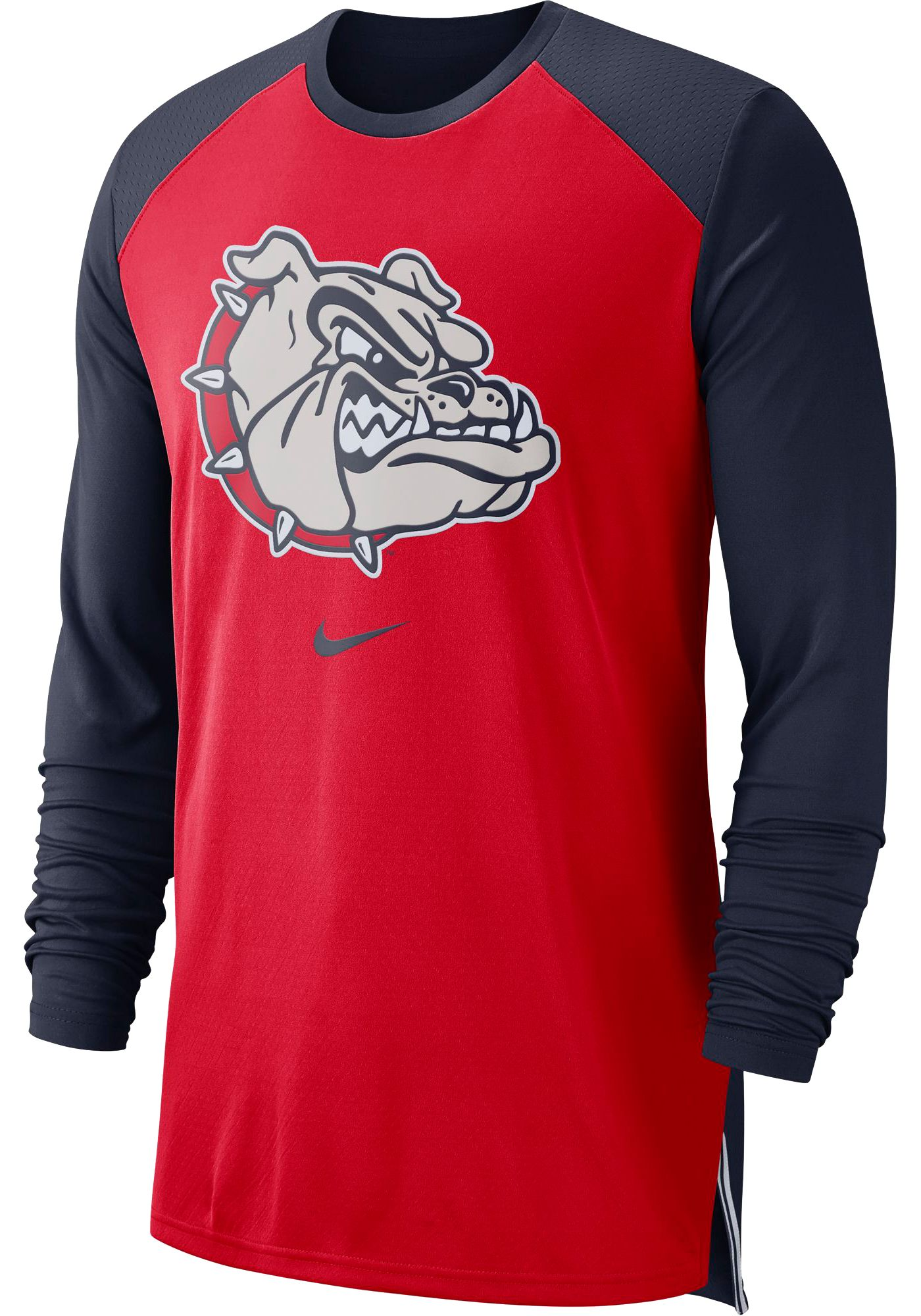 Nike Men's Gonzaga Bulldogs Red/Blue Long Sleeve Shooting Shirt