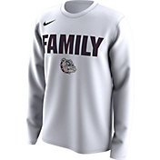Nike Men's Gonzaga Bulldogs 'Family' Bench Long Sleeve White T-Shirt