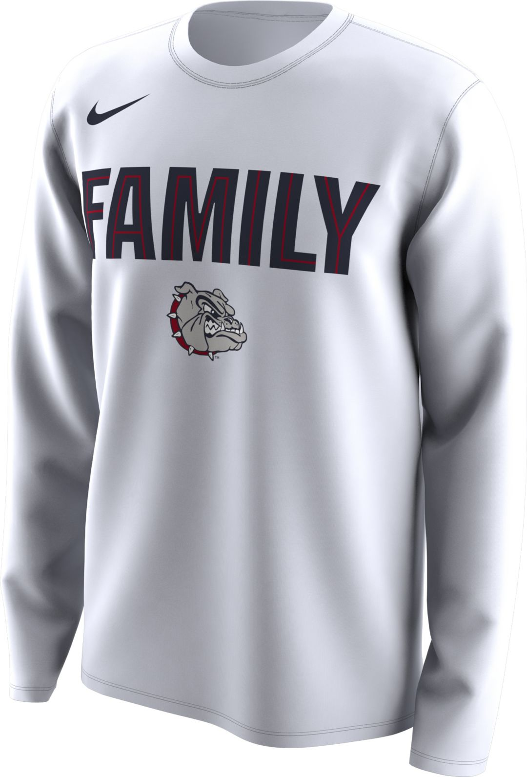 6741af022 Nike Men's Gonzaga Bulldogs 'Family' Bench Long Sleeve White T-Shirt ...