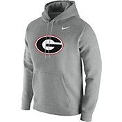 Nike Men's Georgia Bulldogs Grey Club Fleece Pullover Hoodie