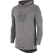 Nike Men's Georgia Bulldogs Grey Dri-FIT Slub Long Sleeve Hooded T-Shirt