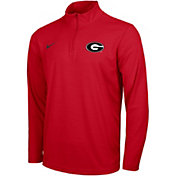 Nike Men's Georgia Bulldogs Red Intensity Quarter-Zip Shirt